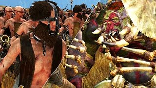 FLAGELLANT VS SAVAGE ORC AND GOBLIN SPEARMAN - MASSIVE BATTLE TOTAL WAR WARHAMMER