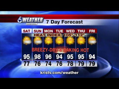 Coastal Bend weather forecast 6/1/18 6PM