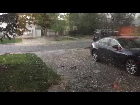 Terrifying Hail Storm in Denver, Colorado 5/8/17