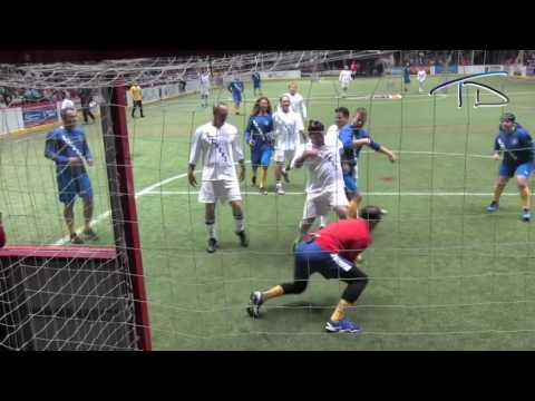 Facing Landon Donovan in Net [San Diego Sockers Celebrity Game]