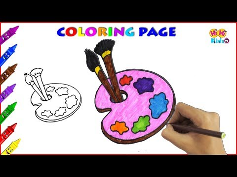 How To Draw Color Palette | Drawing Pages to Color for Kids | You Tube Videos for Kids Learning