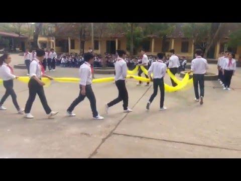 Múa hát tập thể- Thi Nghi thức Đội -THCS Ninh Sở
