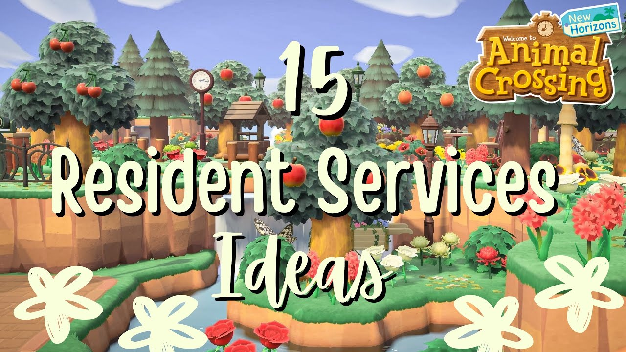 Ideas for Decorating Around Resident Services // Animal Crossing New  Horizons