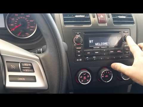 2014 Subaru Quick Bluetooth Setup Pairing