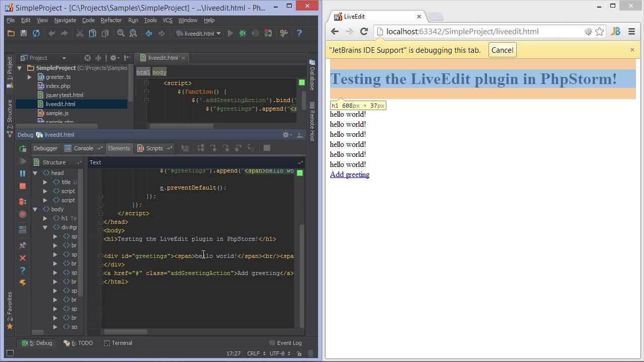 webstorm html comment shortcut