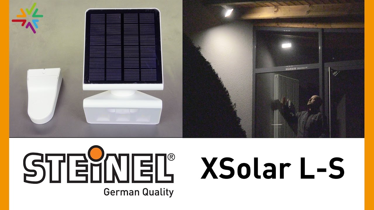 steinel xsolar l s led solar au enleuchte im praxistest youtube. Black Bedroom Furniture Sets. Home Design Ideas