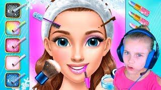 Игра про Ледяную принцессу Делаем макияж Ледяной принцессе Игры для девочек