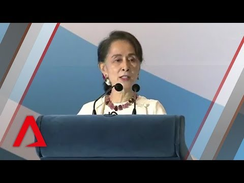 Myanmar's Aung San Suu Kyi delivers 43rd Singapore Lecture