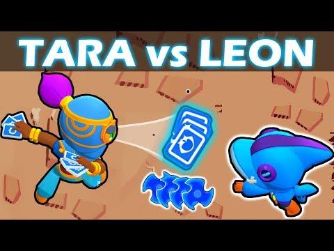TARA vs LEON   1 VS 1   Mitico VS Legendario   Brawl Stars