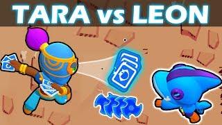 TARA vs LEON | 1 VS 1 | Mitico VS Legendario | Brawl Stars