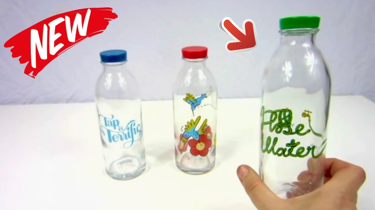 😍 FAUCET FACE ❤ Reusable Glass Water Bottle - Review ✅ - YouTube