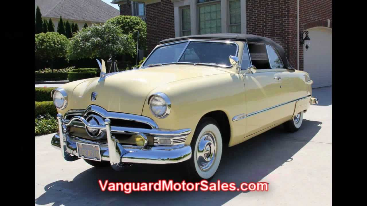 1950 Ford Crestliner Convertible Classic Muscle Car for Sale in MI Vanguard Motor Sales - YouTube & 1950 Ford Crestliner Convertible Classic Muscle Car for Sale in MI ... markmcfarlin.com