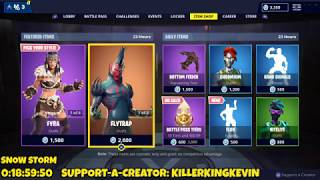 NEW FLUX EMOTE + FLYTRAP SKIN RETURNS: Fortnite Item Shop