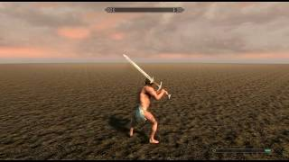 HEMA greatsword animation pack (Skyrim Special Edition)