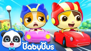 Little Car & Balloon Boat Race | Nursery Rhymes | Kids Cartoon | BabyBus