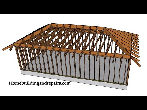 Example of Hip Roof with Ceiling Joist Construction – Framing and Design