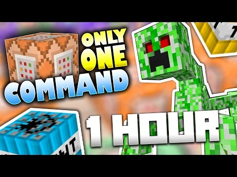 ONLY ONE COMMAND HOUR COMPILATION! (Minecraft Custom Secrets, Traps, Mobs, Items, TNT, Trolls)