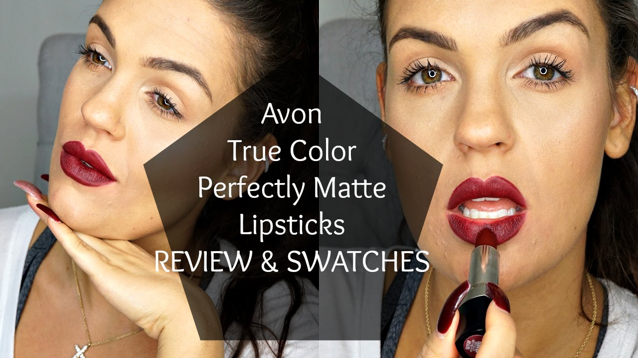 New Avon True Color Perfectly Matte Lipsticks Review Swatches