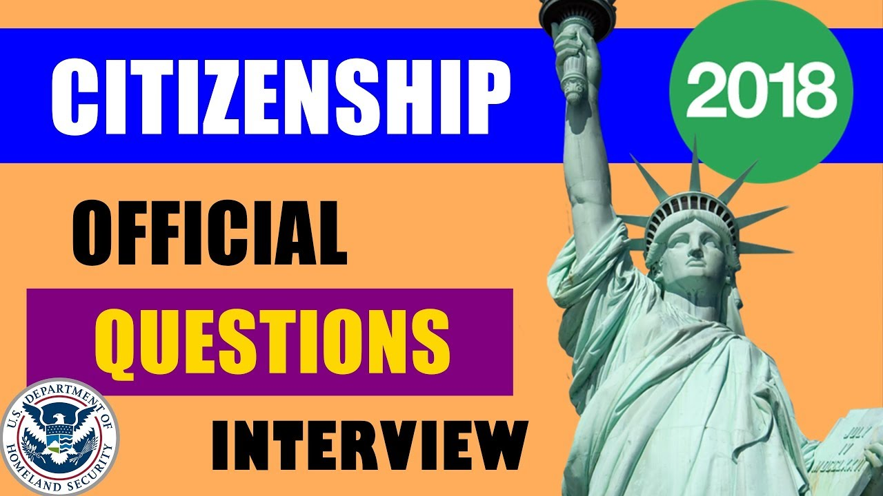 Citizenship Test and Interview 2017, 2018 (OFFICIAL VIDEO US) [New  President Donald Trump]