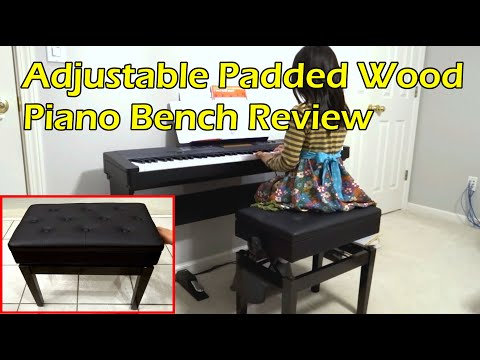 Adjustable Piano Bench Unboxing Review