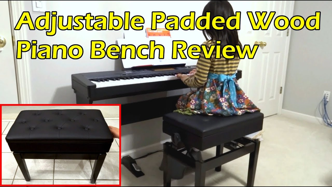Adjustable Piano Bench Unboxing U0026 Review