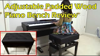 Adjustable Piano Bench Unboxing & Review