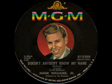 Hank Williams, Jr. ~ Doesn't Anybody Know My Name (1964) [Mono]