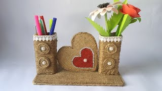 DIY: Best Out of Waste Toothpaste Box/ Easy Jute/Twine Craft Idea!!! Recycled materials Craft!!!
