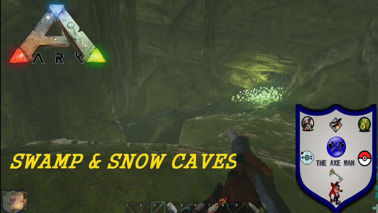 Ark Snow Swamp Cave Locations Youtube