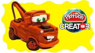 Playdoh Mater Cars - Playdough clay modeling tutorial for baby