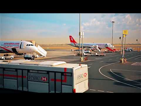 Air Arabia aircraft timelapse