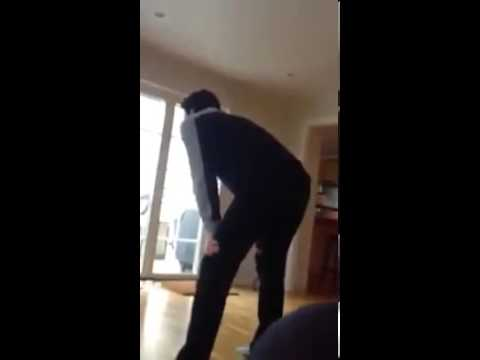 Swedish dads reaction to Charlotte Kalla winning Gold in OS 2014