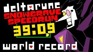 World Record - Deltarune Chapter 2 Speedrun in 39:09 (Snowgrave Route)