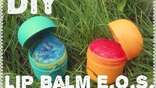 diy lip balm eos
