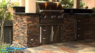 Outdoor Kitchen  Project Spotlight and Customer Testimonial St. Croix Custom Pools -