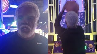 Kyrie Irving Catches Fire Playing Pop-a-Shot as Uncle Drew