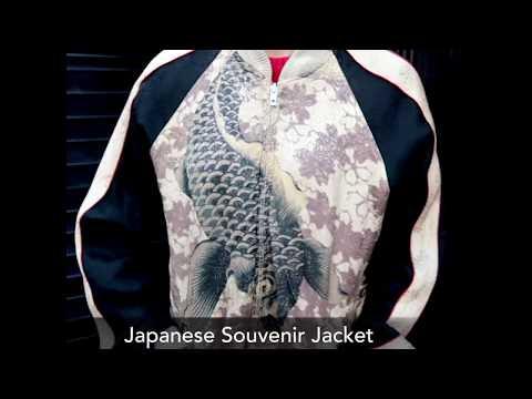 Japanese Koi Sukajan Souvenir Jacket Sukajan スカジャン Bomber Jacket | Japan Lover Me Store