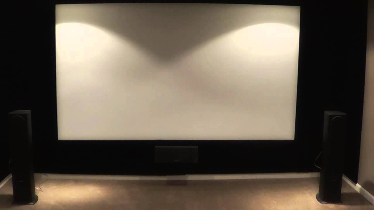Home Theater Tour Projector Setup - YouTube