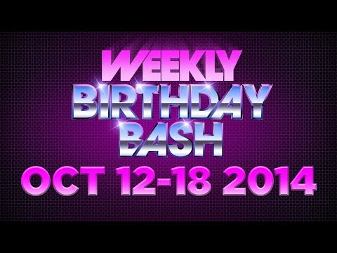 Celebrity Actor Birthdays - October 12-18, 2014 HD