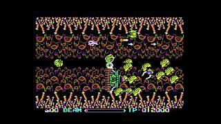 MSX実機で[R-TYPE」5面