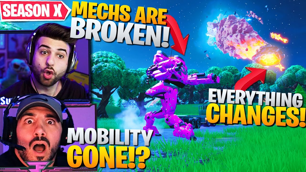 Why SEASON X CHANGES EVERYTHING! Mechs Are BROKEN! (Fortnite Battle Royale) thumbnail