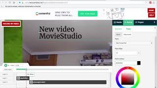 MovieStudio movie maker video editor online