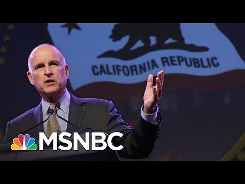 California Governor Jerry Brown Endorses Hillary Clinton   MSNBC