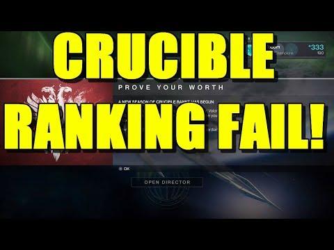 Destiny 2: Crucible Ranks is not a ranking system! FAIL!
