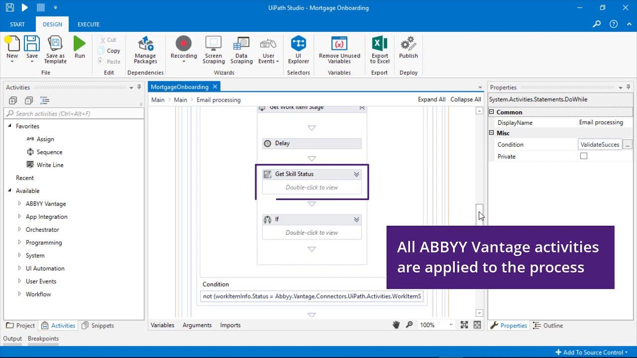 ABBYY Vantage  Integration with UiPath