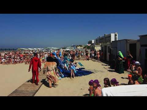 "2018 г.  21 июня  г. Анапа.  День Нептуна на пляже санатория "" Юность""."