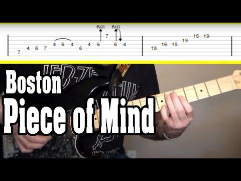 Boston - Piece Of Mind Guitar Tutorial W/TABS