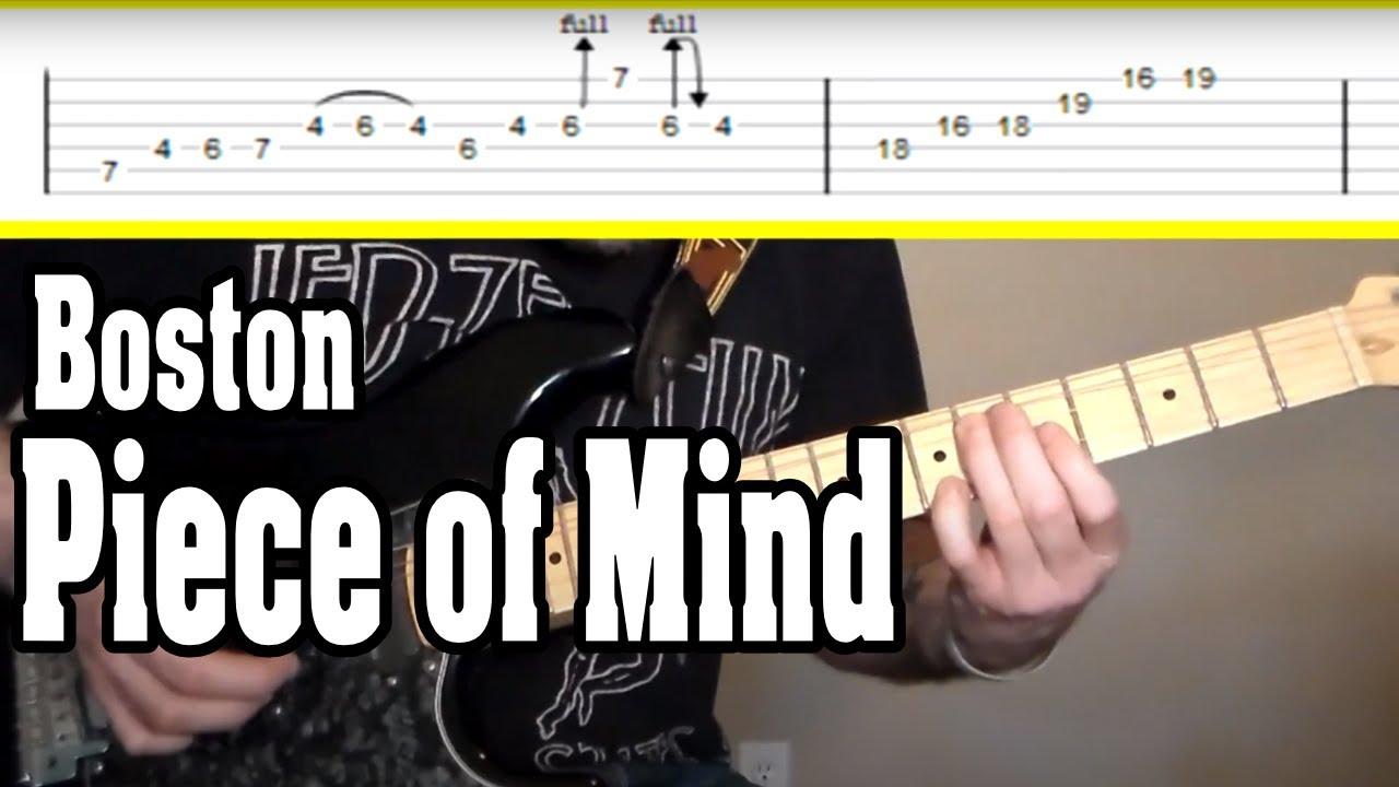 Boston Piece Of Mind Guitar Tutorial Wtabs Youtube
