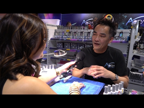 Aora Holographic Chrome and GEP Nails with Mr. Trang Nguyen at ISSE Long Beach