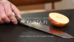Japanilainen taottu keittiöveitsi Yaxell - Paista.fi